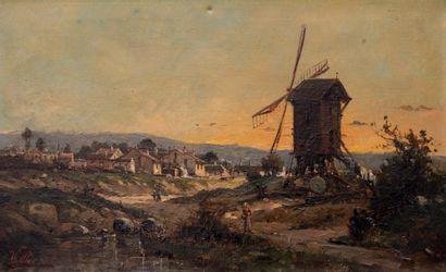 VALLIER (XIXème siècle)  Le moulin  Huile...