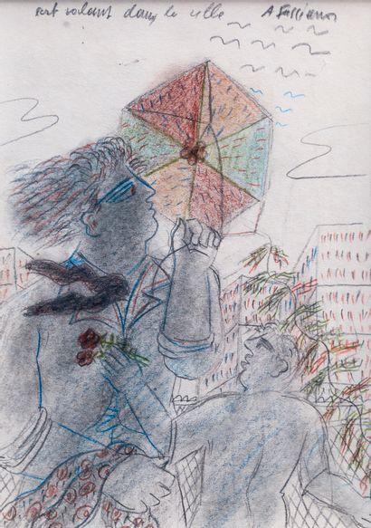 Alexandre FASSIANOS (1935)  Cerf volant dans...
