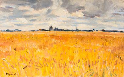 Takanori OGUISS (1901-1986)  Paysage Auneau,...