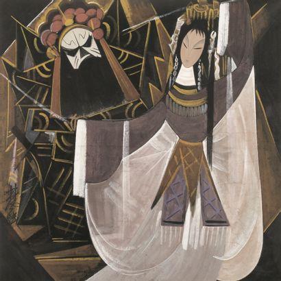 Lin FENGMIAN (1900-1991)  Les danseurs d'Opera...