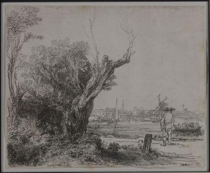 Rembrandt VAN RIJN (1606-1669)  Omval, 1945...