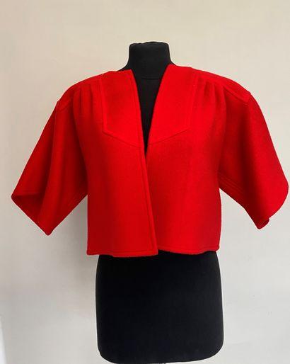 LOUIS FERAUD Bolero de lainage rouge - taille...