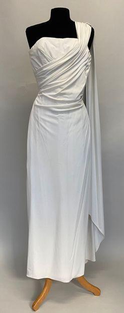 ARTABAN Robe vestale en jersey blanc Taille...