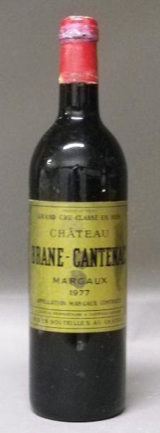 1 BOUTEILLE BRANE CANTENAC Etiquette tachée,...