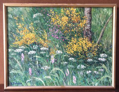 ROBERT DANSLER (1900-1972) Jardins fleuris....
