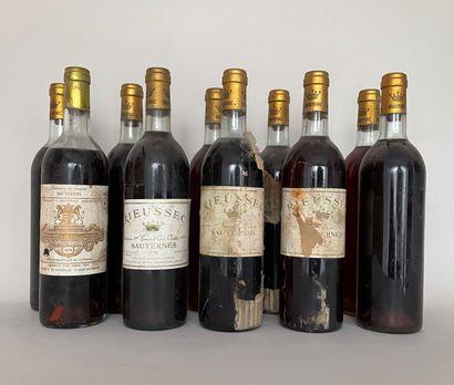 9 Bouteilles Chateau Rieussec Sauternes 1978...