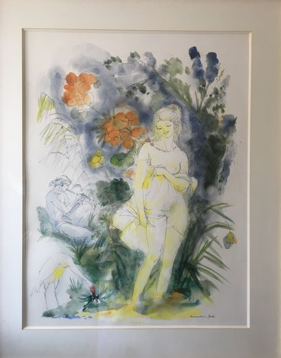 Amandine DORÉ (1912-2011) jeune fille aux...