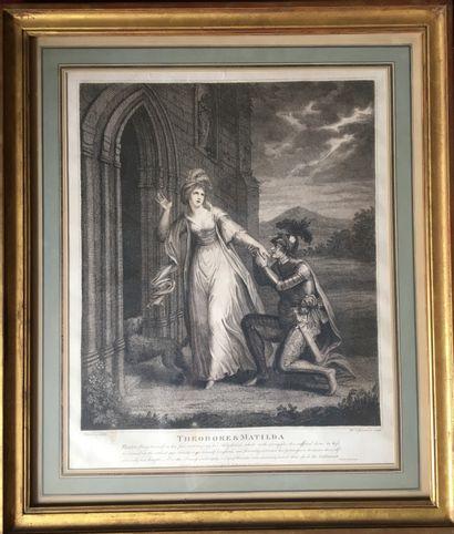 Paire de gravures Théodore et Mathilda, Isabella...