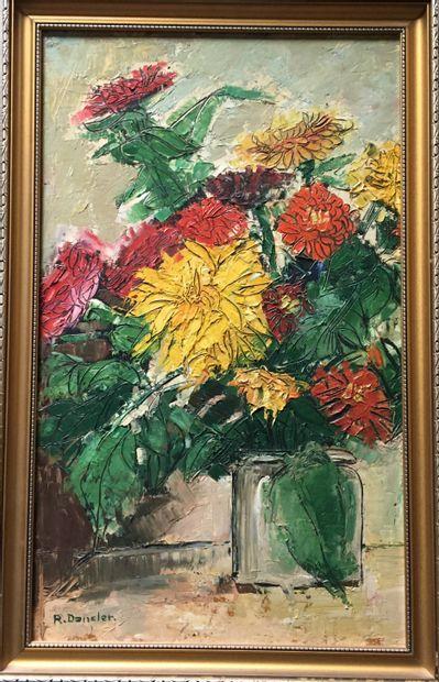 ROBERT DANSLER (1900-1972) Bouquets de fleurs...
