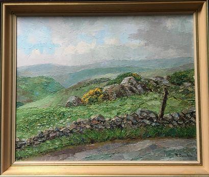 ROBERT DANSLER (1900-1972) Paysage d.Auvergne...