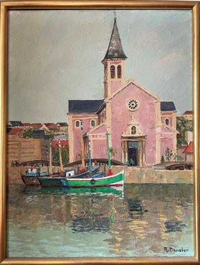 ROBERT DANSLER (1900-1972) L'église sur le...