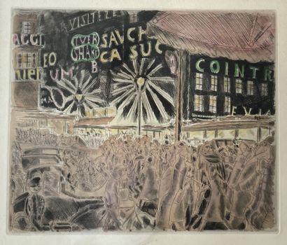 CHAS LABORDE (1886-1941) 7 heures Place de...