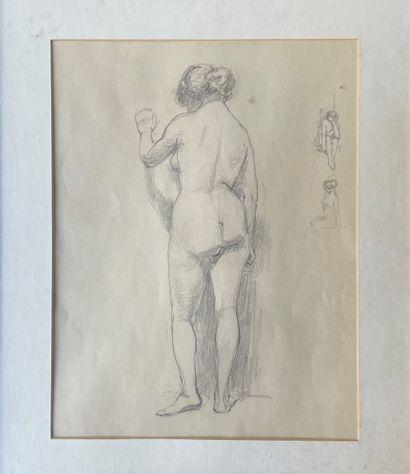 WILFRID DE GLEHN(1870-1951) Femme nue debout...