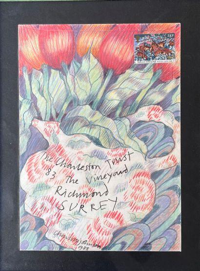 CHARLOTTE JOHNSON Charleston trust aquarelle...