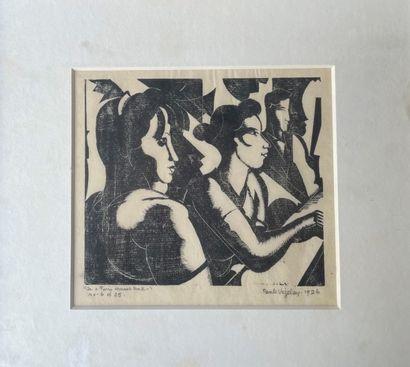 PAULE VEZELAY (1892-1984) gravure sur bois...