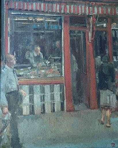 THOMAS COATES (né en 1941) Le boucher huile...