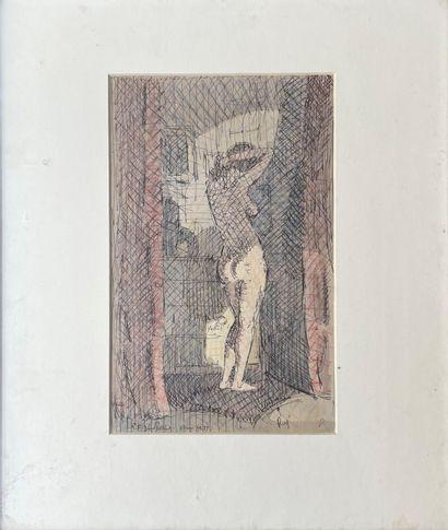 REGINALD GOODFELLOW (1894-1985) Femme à sa...
