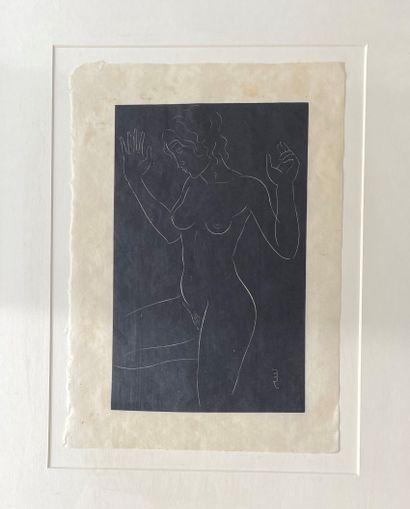 ERIC GILL (188261940) Nu les bras levés gravure...