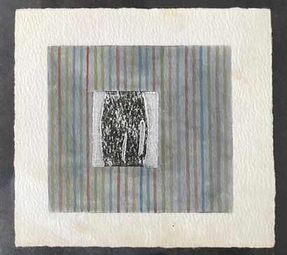 AARON KASMIN (né en 1963) gravure sous verre...
