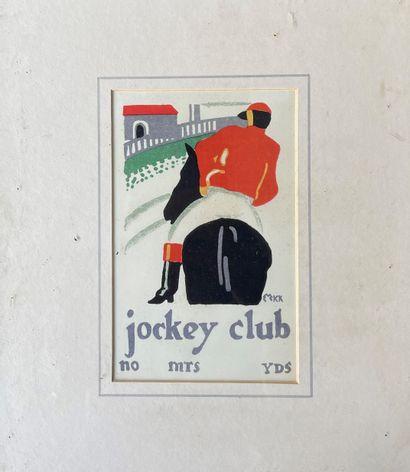 EDWARD McKNIGHT KAUFFER (1890-1954) Jockey...