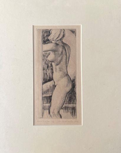 JOHN BUCKLAND WRIGHT (1897-1954) Nu féminin...