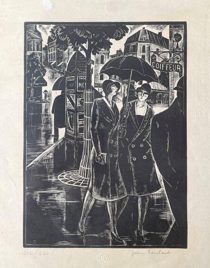 JEAN LOMBARD (1895-1983) 2 femmes dans une...