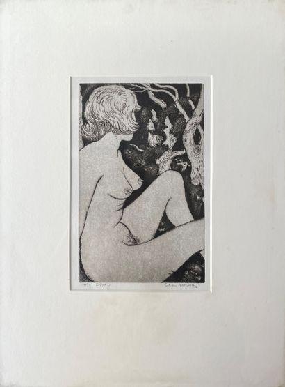 EDGAR HOLLOWAY (1914-2008) Dryad gravure...