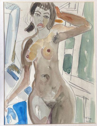 FRANCESCO DEL DRAGO (1920-2013) Eliane aquarelle...