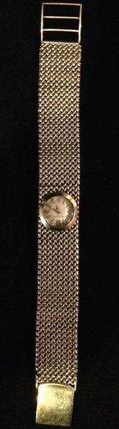 JAEGER LECOULTRE Bracelet montre de dame en or 9k - Circa 1960 - Poids brut: 37g
