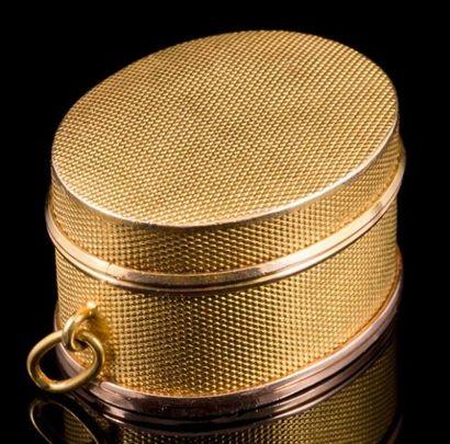 Pendentif Vinaigrette en or guilloché - Longueur:...