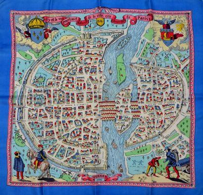 """HERMES Paris """"Icy eft le vray pourtraict naturel de la ville, cité, univerfité de..."""