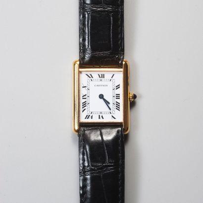 CARTIER Paris. Montre bracelet rectangulaire...