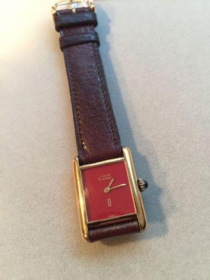 MUST DE CARTIER. Bracelet montre de dame...