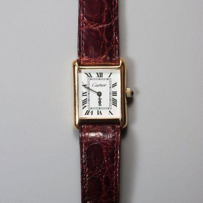 CARTIER New York. Montre bracelet rectangulaire...