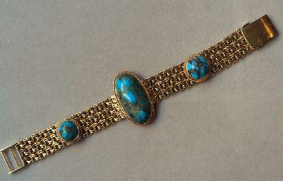Bracelet ruban en or 750 millièmes orné de...