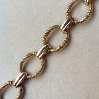 Bracelet en or 750 millièmes composé de 5...