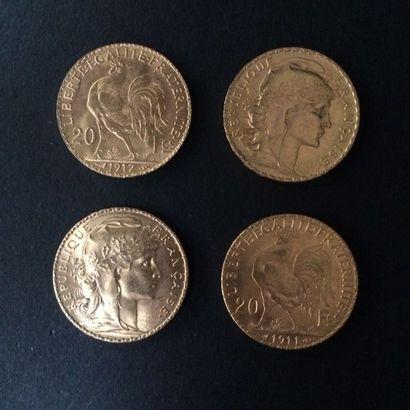IIIème REPUBLIQUE (1871-1940). Lot de 4 pièces...