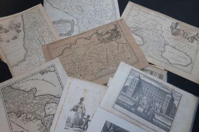 CARTES GEOGRAPHIQUES  Lot de cartes géographiques...