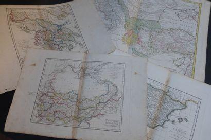 CARTES ANCIENNES  Lot de 8 cartes géographiques...
