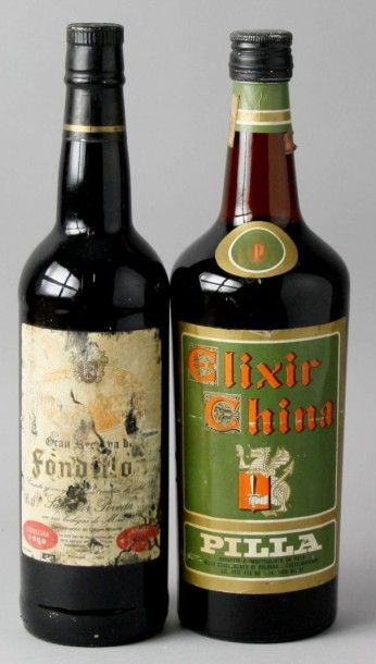 2 Bouteilles Alcools divers : 1 Rancio 1980...