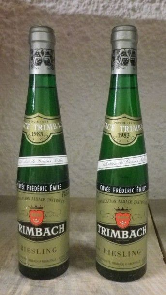 2 Demi bouteilles ALSACE - RIESLING CUVÉE...