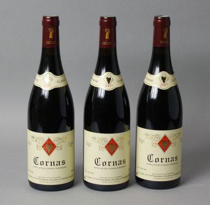 3 Bouteilles CORNAS 2007 - A. CLAPE
