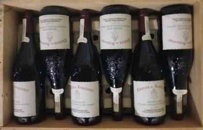 12 Bouteilles CHÂTEAUNEUF DU PAPE 2001 -...