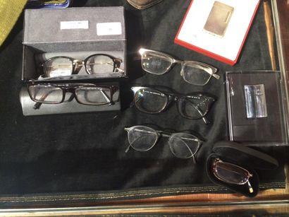 Fort lot de lunettes de vue et de soleil,...