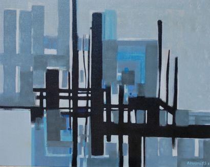 Bernard HERZOG (né en 1935)  Le port du nouveau...