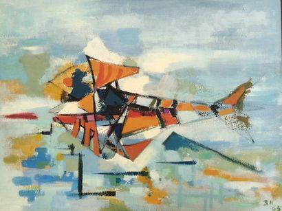 Bernard HERZOG (né en 1935)  Machine spatiale...