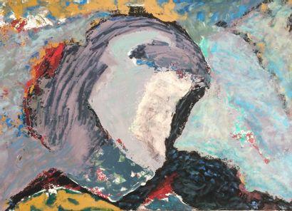 Bernard HERZOG (né en 1935)  La terre souffre...
