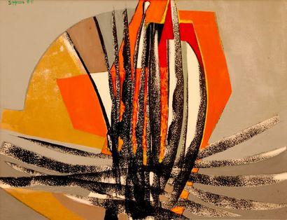 Bernard HERZOG (né en 1935)  Abstractioin...