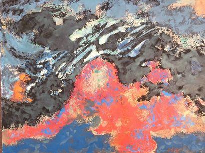 Bernard HERZOG (né en 1935)  Eau et feu (2...