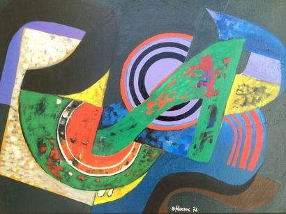 Bernard HERZOG (né en 1935)  Vibration colorée...